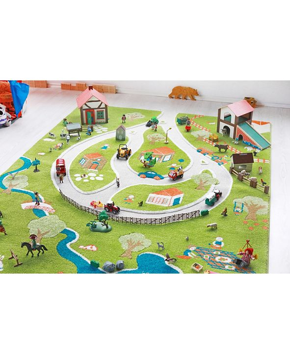 IVI Farm 3D  Kids Play Rug Playmat