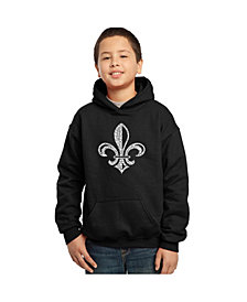 LA Pop Art Boy's Word Art Hoodies - Lyrics To When The Saints Go Marching In