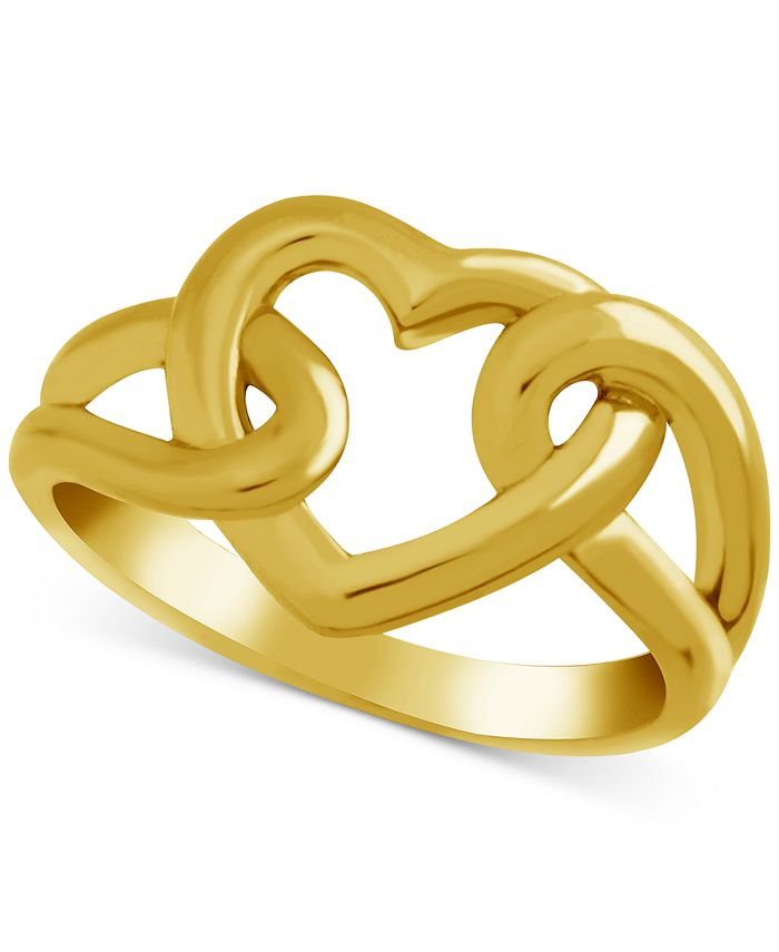 Essentials - Open Heart Link Ring in Gold-Plate