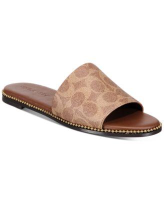 Hayden Beadchain Flat Slide Sandals