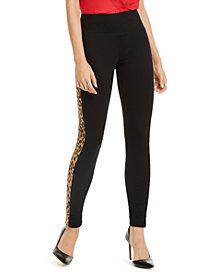 INC Animal-Print Stripe Skinny Pants, Created for Macy's