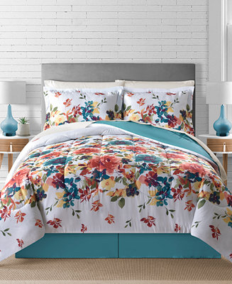 Fairfield Square Collection Sophia Reversible 8 Pc Comforter Sets Reviews Bed In A Bag Bed Bath Macy S