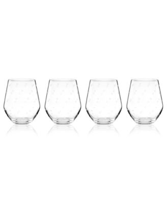 kate spade new york Set of 4 Larabee Dot Stemless White Wine Glasses