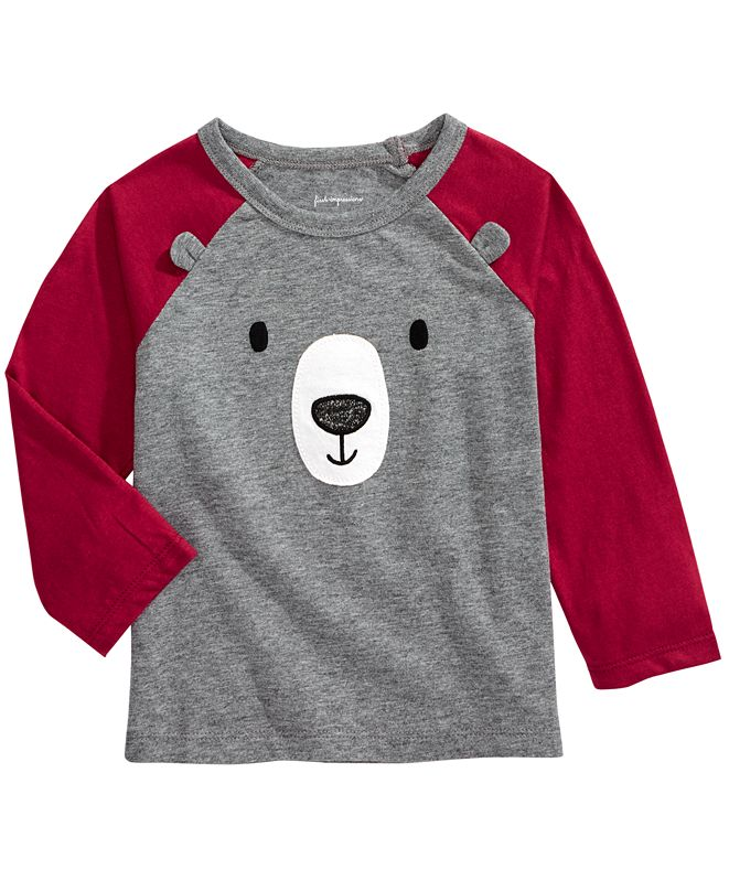 First Impressions Baby Boys Bear Face Raglan, Created for Macy's