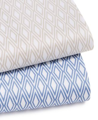 CLOSEOUT! Diamond Geo Cotton 550-Thread Count 2-Pc. Standard Pillowcase, Created for Macy's