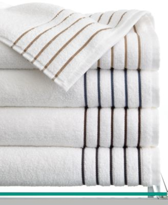 "Hotel Collection Bath Towels, Borderline 13"" Square Washcloth"