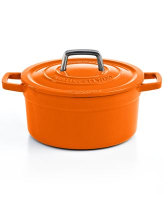 Closeout! Martha Stewart Collection Collector's Enameled Cast Iron Round Casserole, 3 Qt. Orange