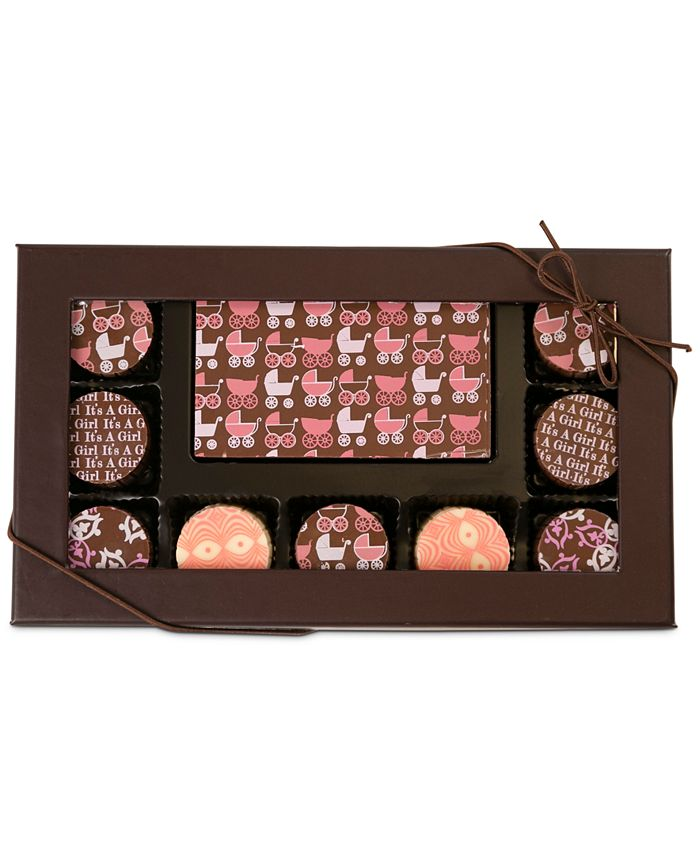Chocolate Works - 10-Pc. Baby Girl Gourmet Chocolate Truffles