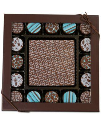 17-Pc. Baby Boy Gourmet Chocolate Truffles