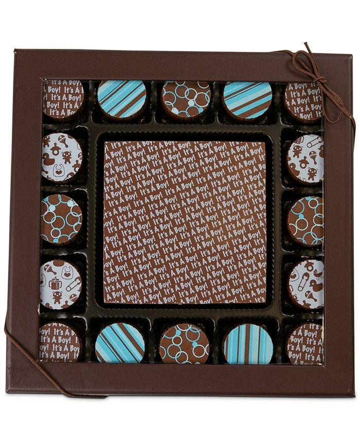 Chocolate Works - 17-Pc. Baby Boy Gourmet Chocolate Truffles