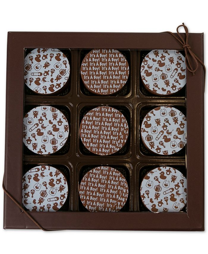 Chocolate Works - 9-Pc. Baby Boy Oreos