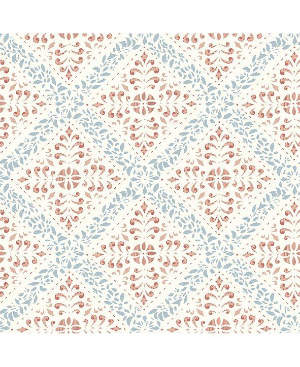 """Wall Vision 21"""" x 396"""" Nyborg Ornamental Geometric Wallpaper"""