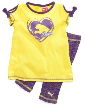 Puma Baby Set Baby Girls Top and Capri Pants