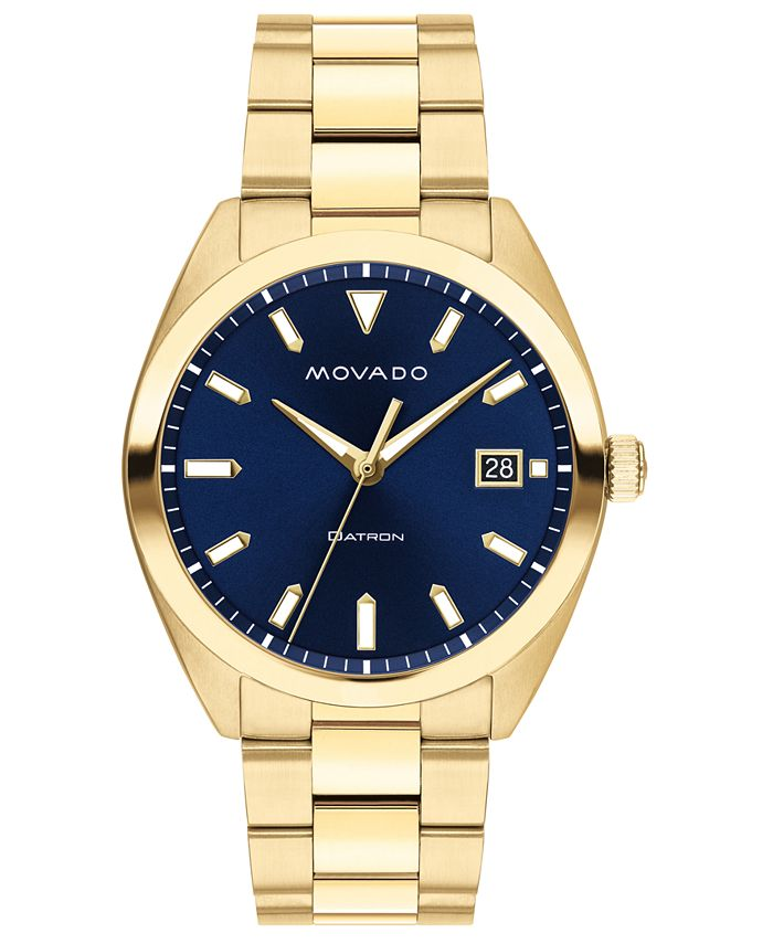 Movado - Men's Swiss Heritage Gold Ion-Plated Stainless Steel Bracelet Watch 39mm