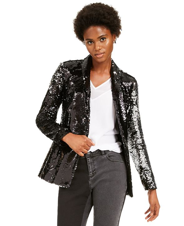 INC International Concepts INC Allover-Sequin Blazer, Created for Macy's