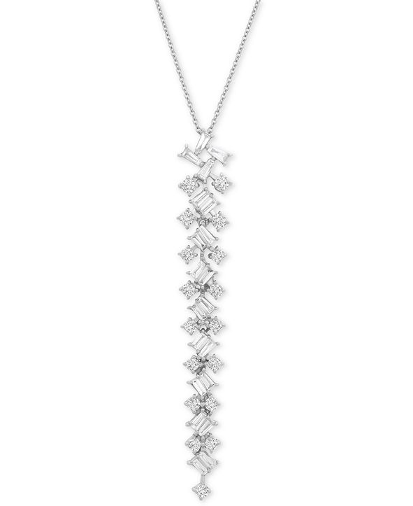 "Wrapped in Love Diamond Scatter 20"" Pendant Necklace (2-1/2 ct. t.w.) in 14k White Gold, Created for Macy's"