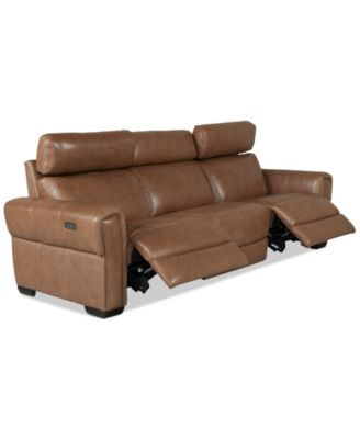 Josephia 3-Pc. Leather Sectional with 2 Power Recliners, Created for Macy's