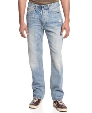 Sean John Jeans Zig Detail Hamilton Straight Leg Jeans