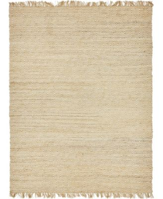 Braided Tones Brt3 Natural/White 5' x 8' Area Rug