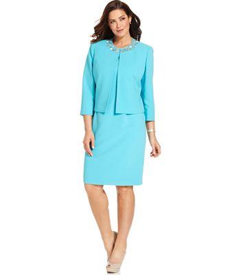 Plus Size Jacket Dresses For Work - Formal Dresses