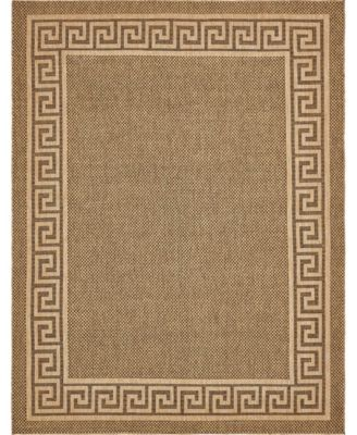 Pashio Pas6 Brown 7' x 10' Area Rug