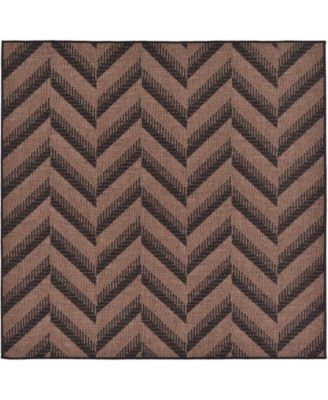 Pashio Pas6 Brown 6' x 6' Round Area Rug