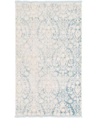 Norston Nor5 Light Blue 4' x 6' Area Rug
