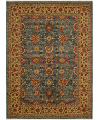 Orwyn Orw1 Blue 8' x 8' Square Area Rug