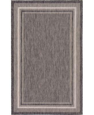 Pashio Pas5 Black 7' x 10' Area Rug