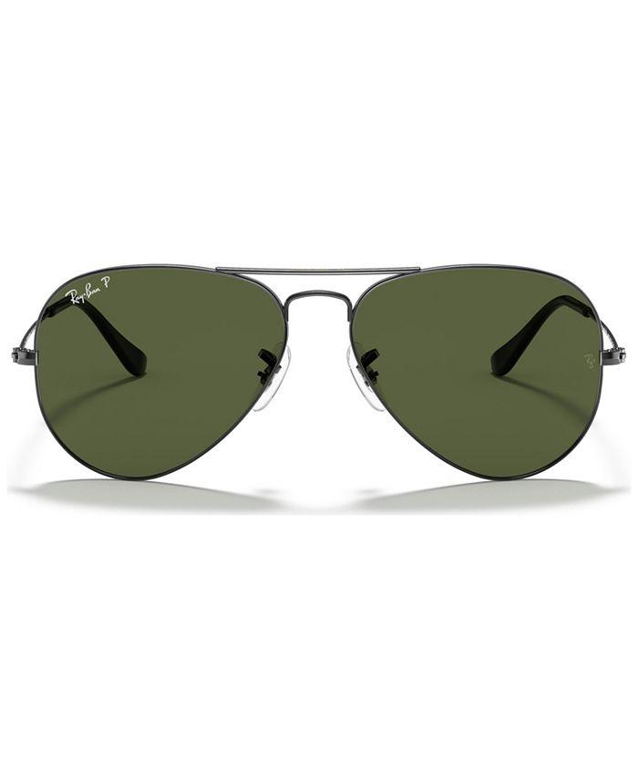 Ray-Ban - ORIGINAL AVIATOR Polarized Sunglasses, RB3025 58
