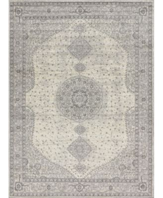 Mobley Mob1 Light Gray 3' x 3' Round Area Rug