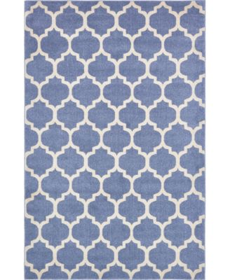 Arbor Arb1 Light Blue 2' x 6' Runner Area Rug