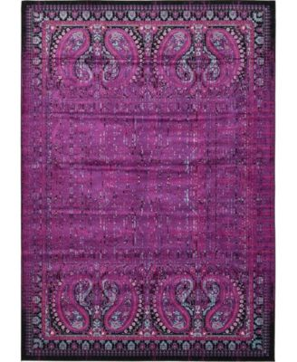 Linport Lin6 Lilac 7' x 10' Area Rug