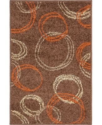 Jasia Jas05 Brown 8' x 8' Round Area Rug