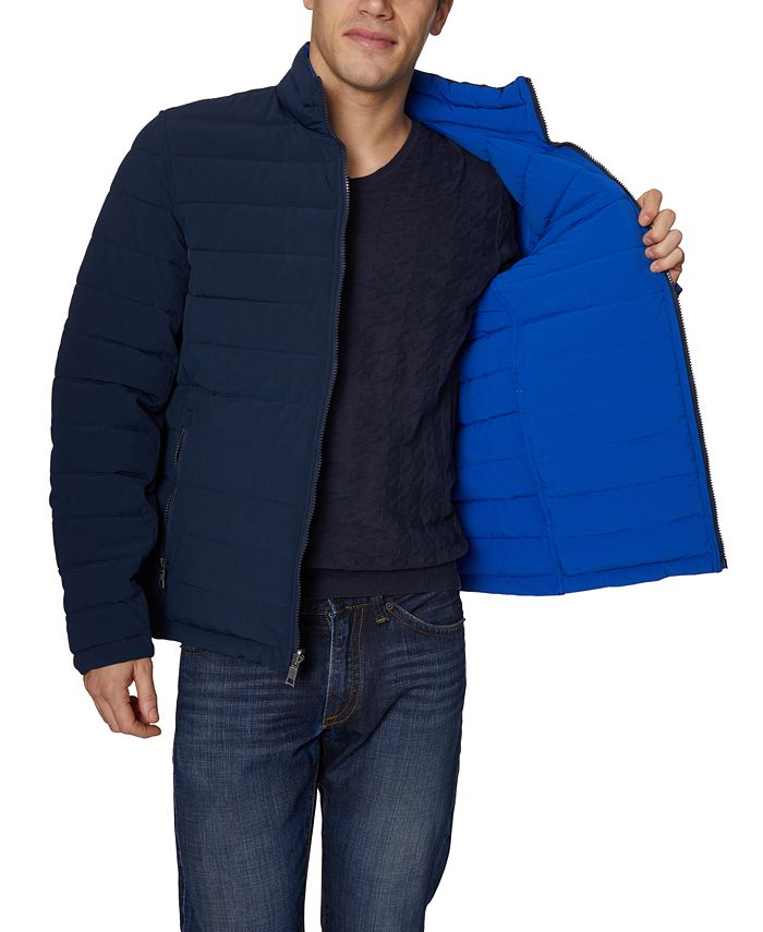 Nautica - Men's Mid-Weight Stretch Reversible Puffer Jacket