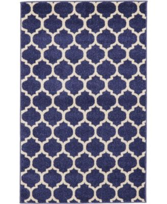 Arbor Arb1 Dark Blue 4' x 6' Area Rug