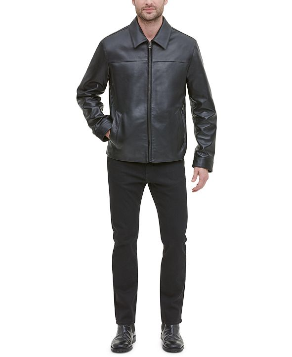Cole Haan Men's Leather Jacket, Created for Macy's
