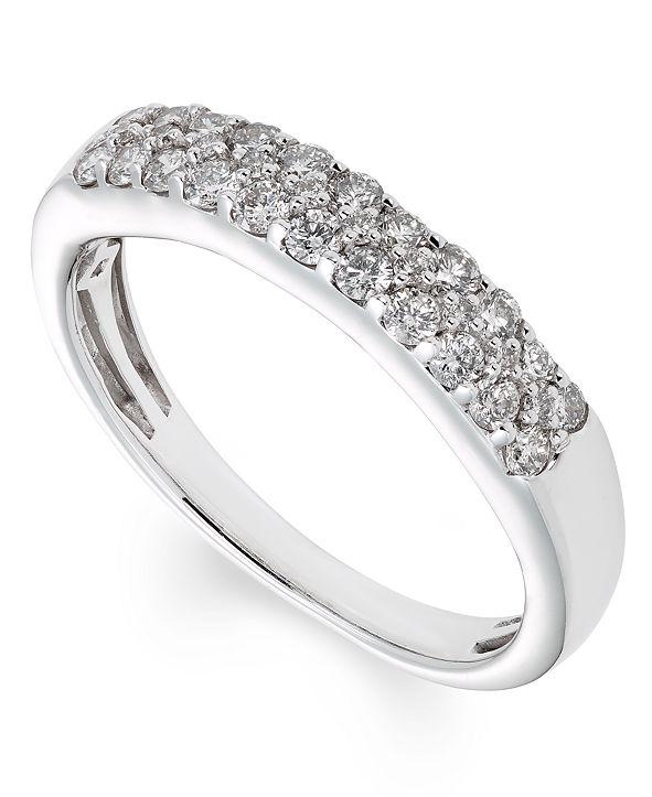 Macy's Certified Diamond (1/2 ct. t.w.)Band in 14K White Gold