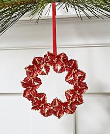 Holiday Lane Santa's Favorites Poinsettia Wreath Ornament, Created for Macy's