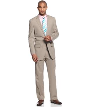 Sean John Suit Tan Solid Suit