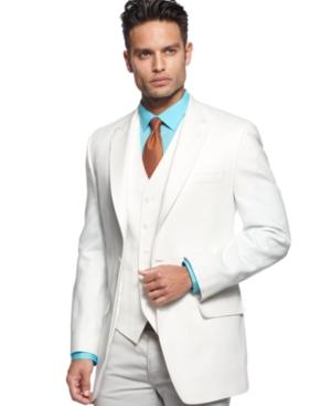 Sean John Vest White Linen