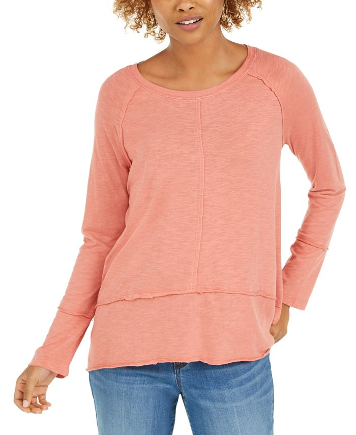Style & Co - Cotton High-Low Top