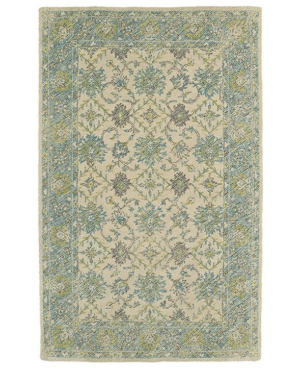 Kaleen Weathered WTR06-91 Teal 8' x 10' Area Rug