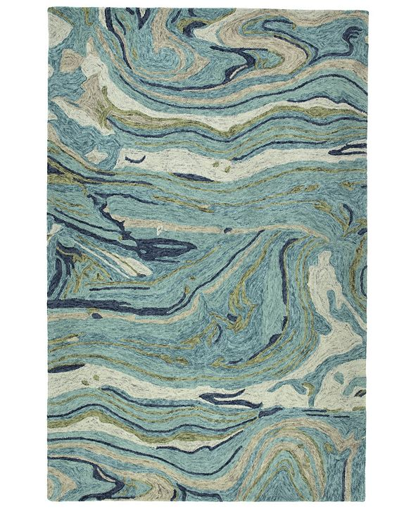 Kaleen Marble MBL03-91 Teal 2' x 3' Area Rug