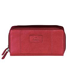 Mancini Casablanca Collection RFID Secure Double Zipper Wallet