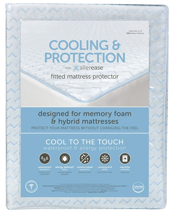 AllerEase - Cooling and Protection Mattress Protector for Memory Foam Mattresses, Full
