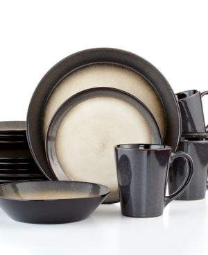 Pfaltzgraff Everyday Dinnerware, Aria Grey 16-Piece Set