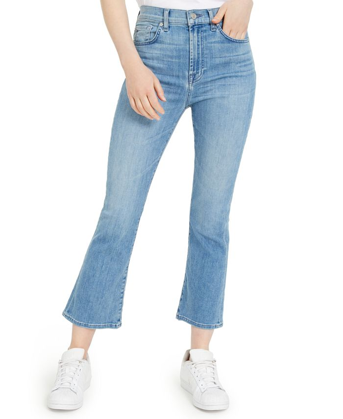 7 For All Mankind - High-Waist Slim Kick Jeans