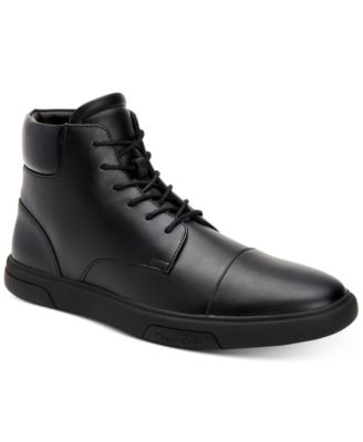 calvin klein high top sneakers mens
