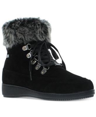 Francie Boots with Faux Fur Trim